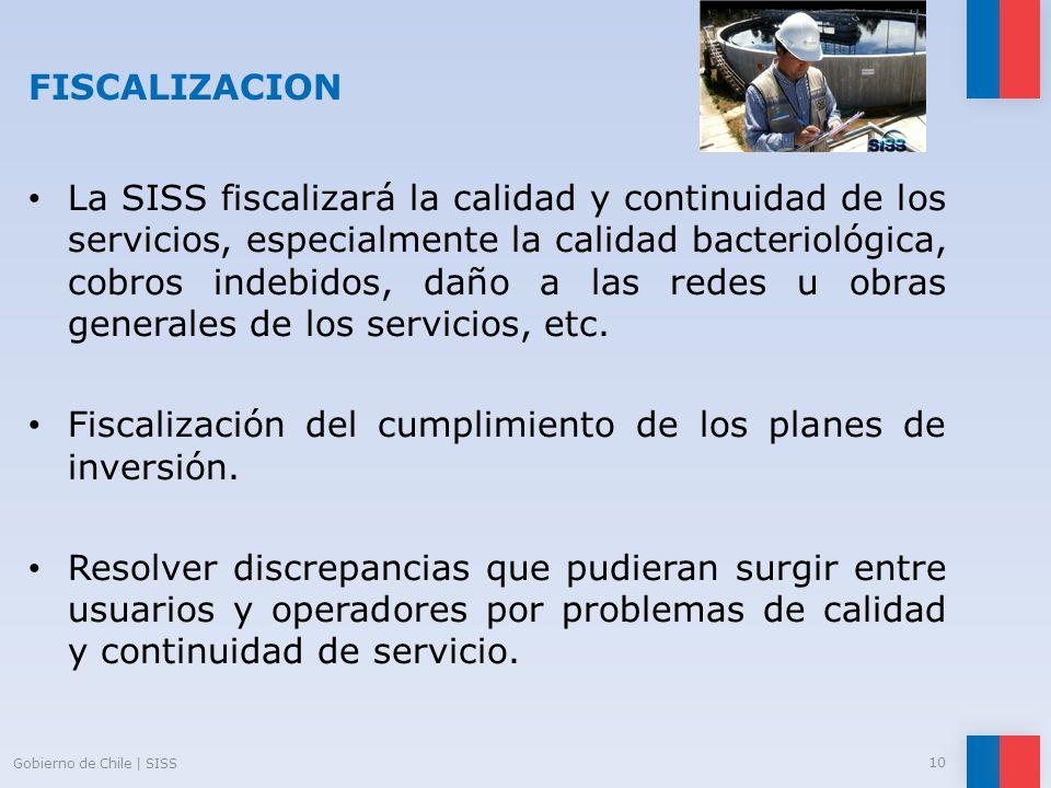 Fiscalización del cumplimiento de los planes de inversión.
