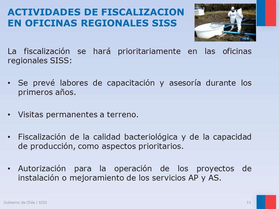 ACTIVIDADES DE FISCALIZACION EN OFICINAS REGIONALES SISS