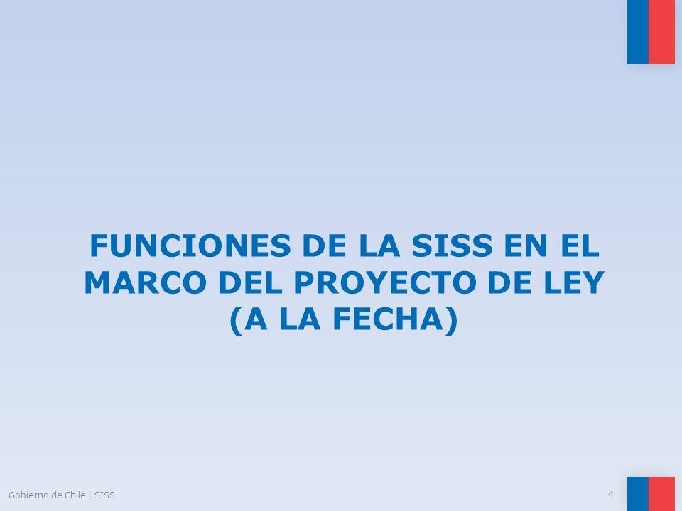 FUNCIONES DE LA SISS EN EL MARCO DEL PROYECTO DE LEY (a la fecha)