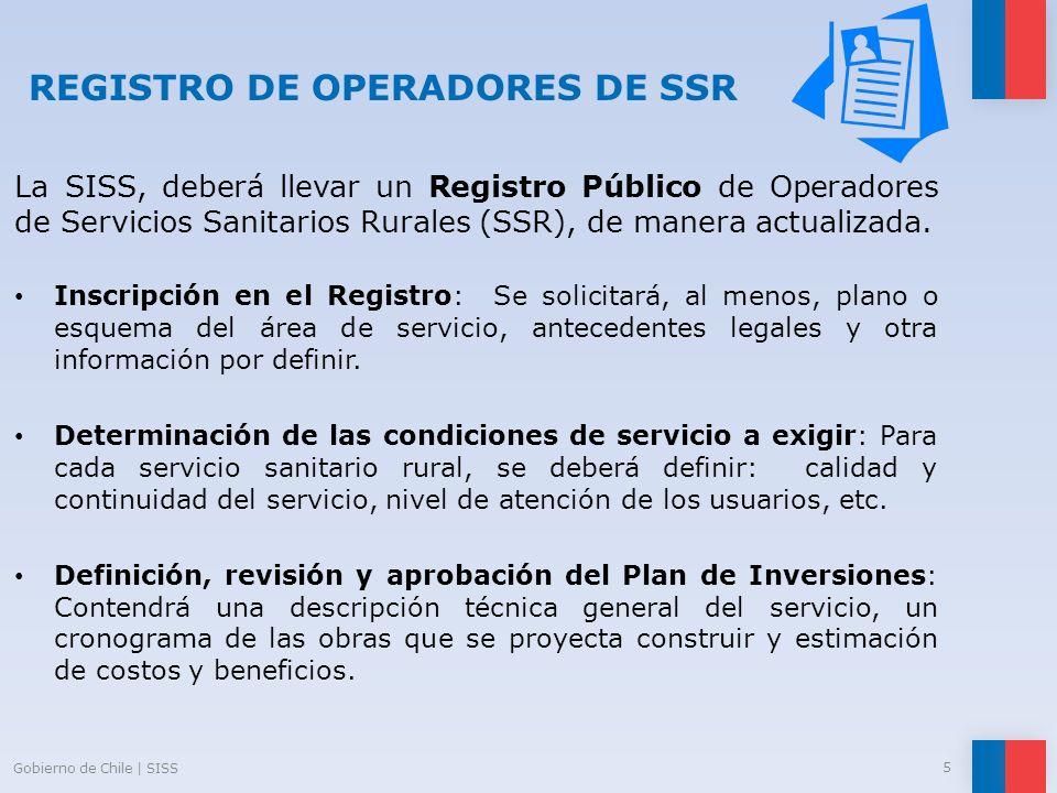 REGISTRO DE OPERADORES DE SSR