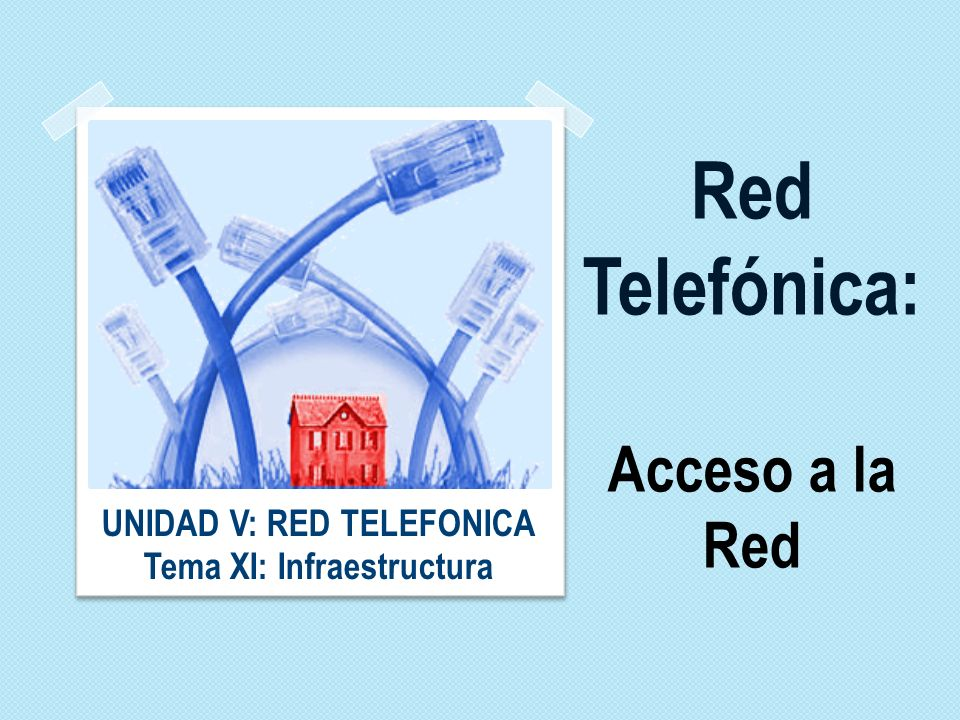 Red Telefónica: Acceso a la Red