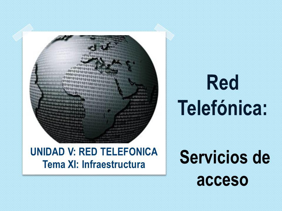 Red Telefónica: Servicios de acceso