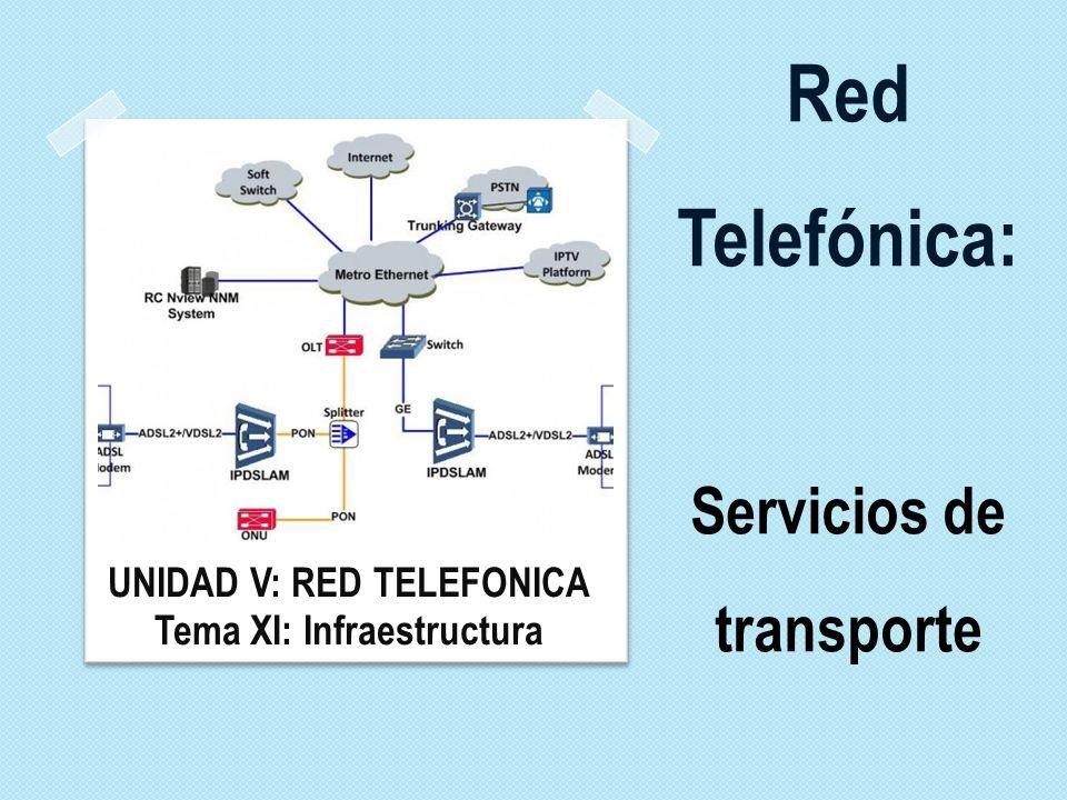 Red Telefónica: Servicios de transporte