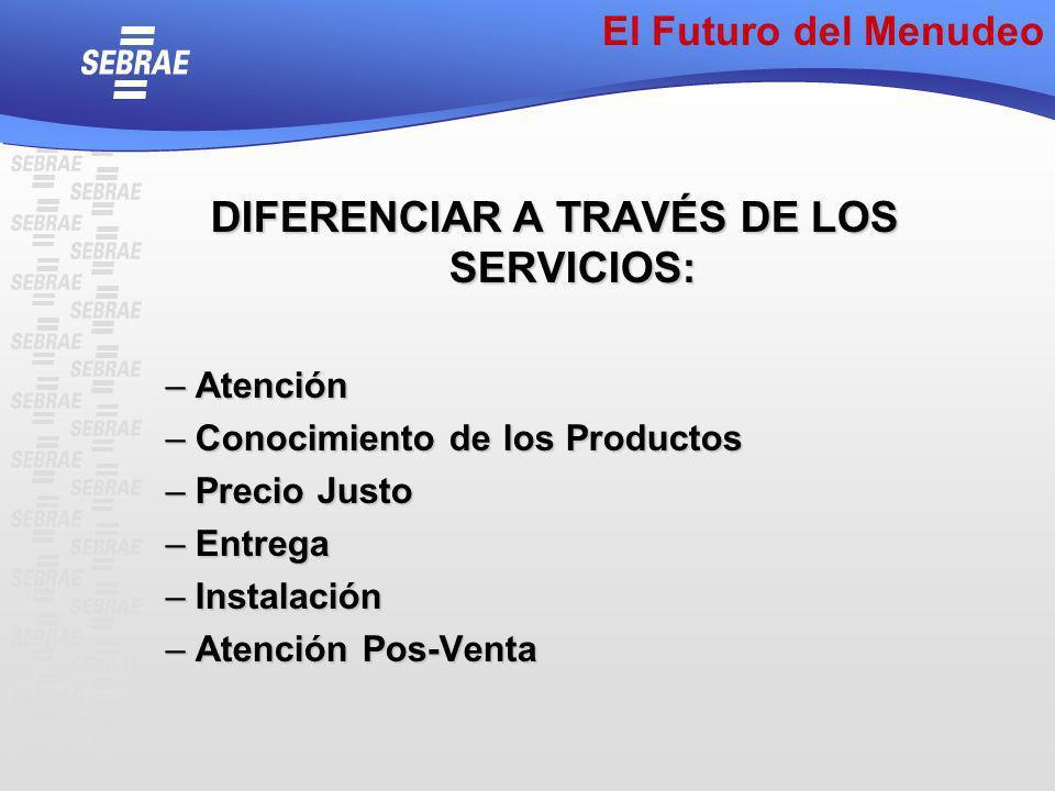 DIFERENCIAR A TRAVÉS DE LOS SERVICIOS: