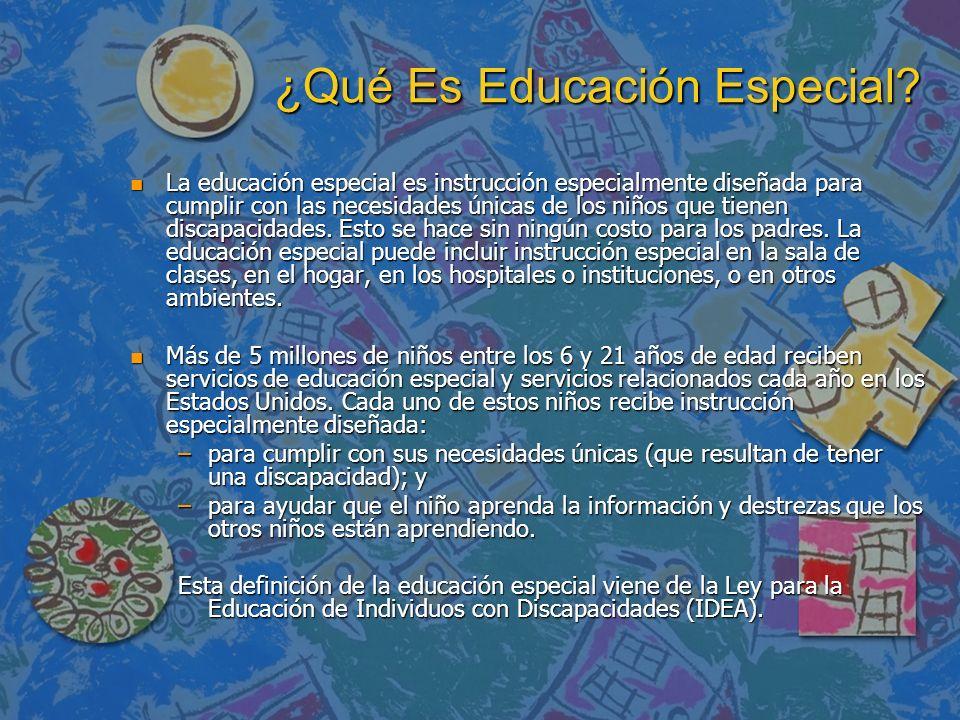 ¿Qué Es Educación Especial