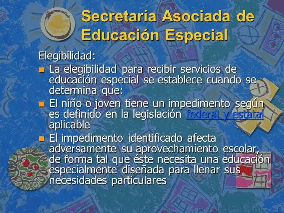 Secretaría Asociada de Educación Especial