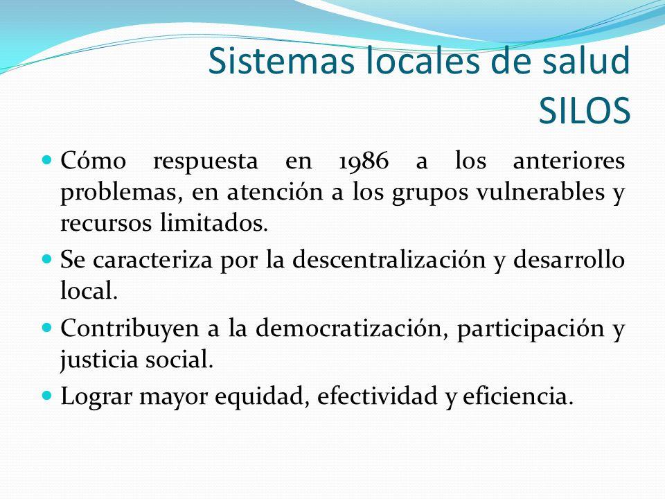 Sistemas locales de salud SILOS