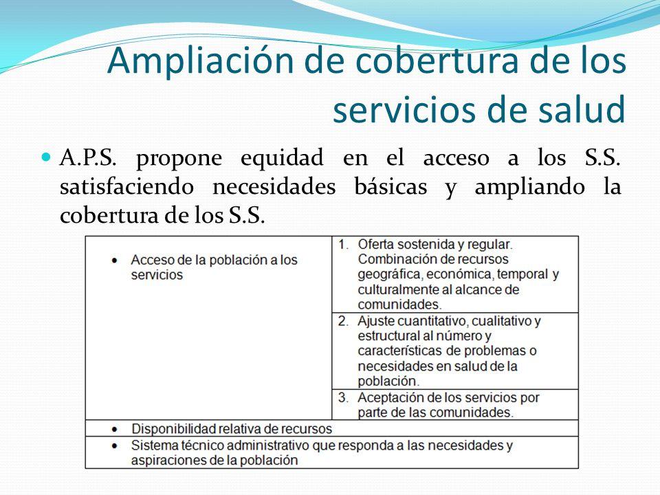 Ampliación de cobertura de los servicios de salud