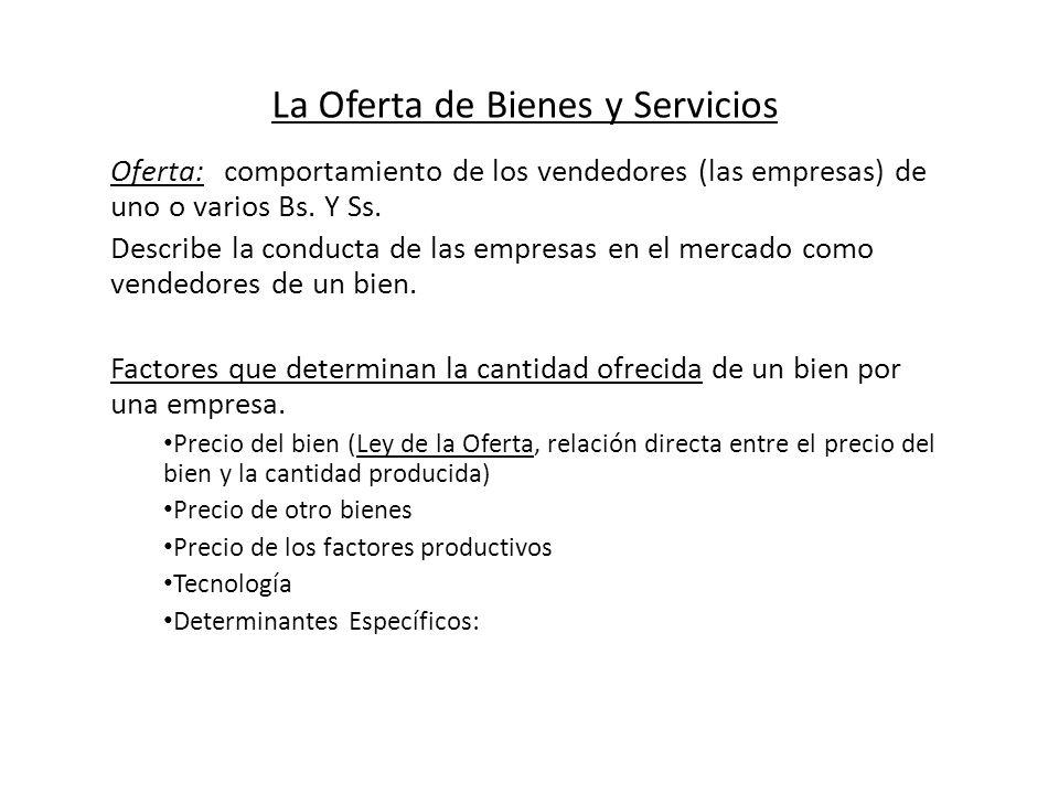 La Oferta de Bienes y Servicios