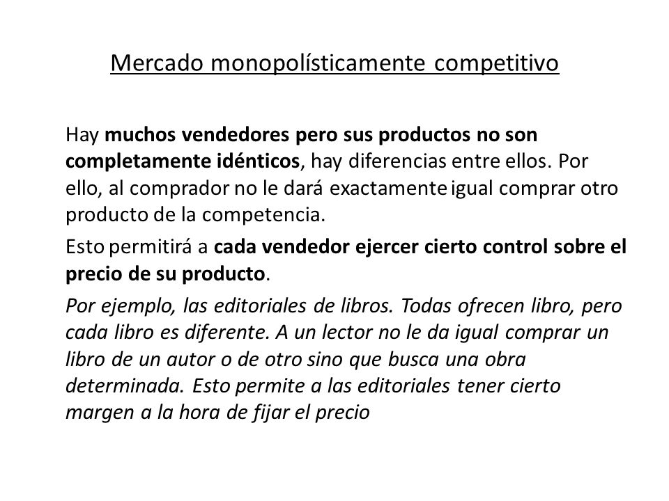 Mercado monopolísticamente competitivo