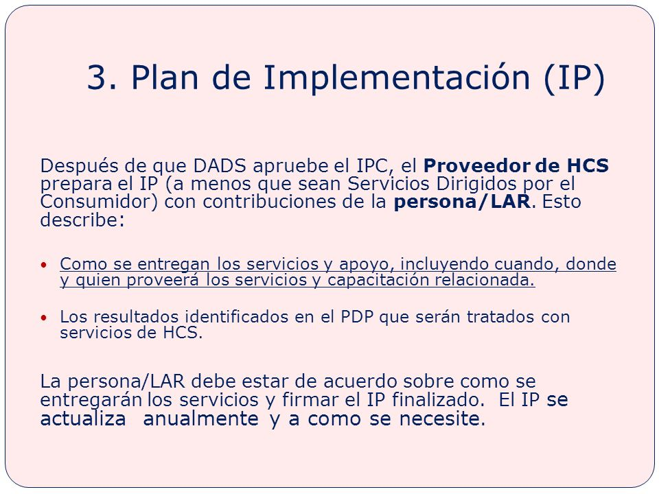 3. Plan de Implementación (IP)