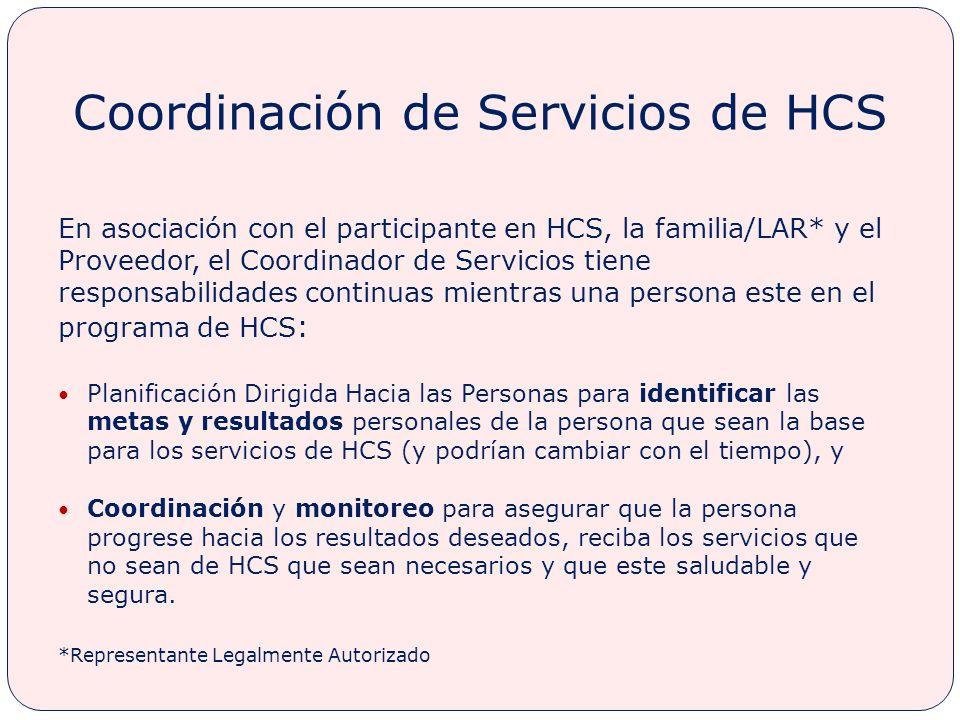 Coordinación de Servicios de HCS