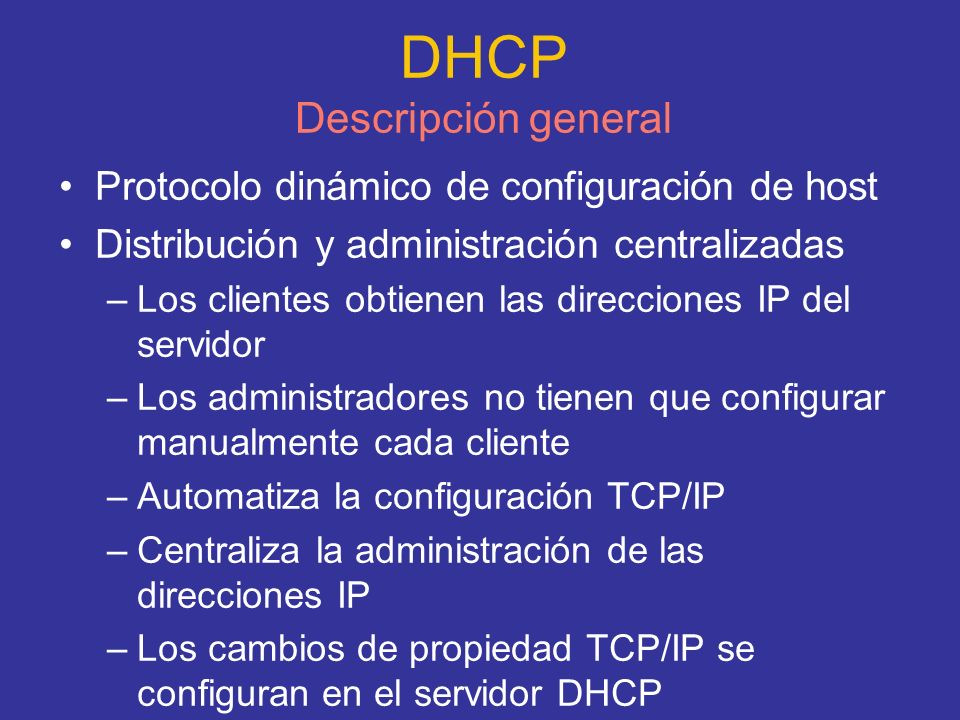 DHCP Descripción general