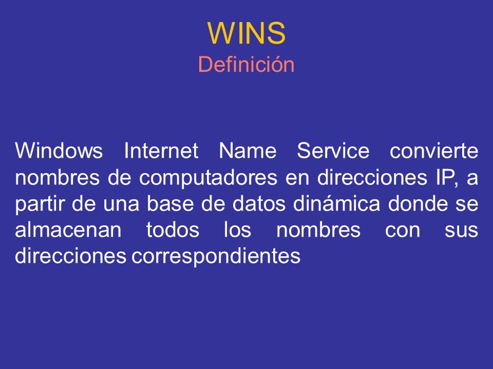 WINS Definición