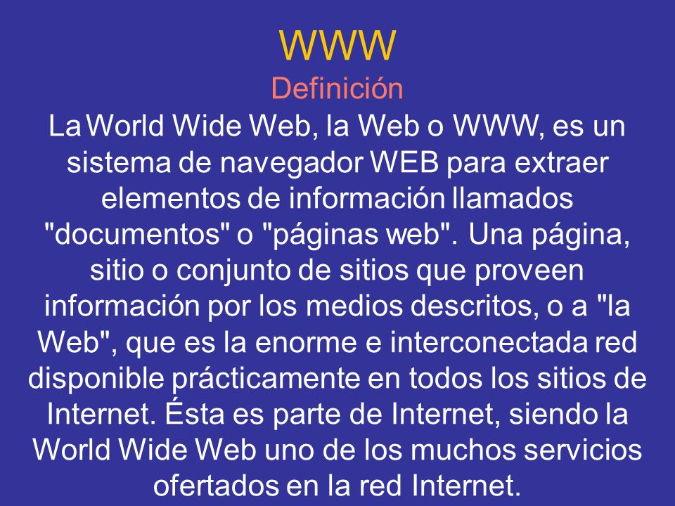 WWW Definición