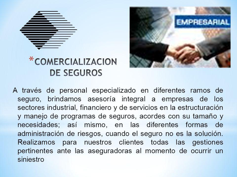 COMERCIALIZACION DE SEGUROS
