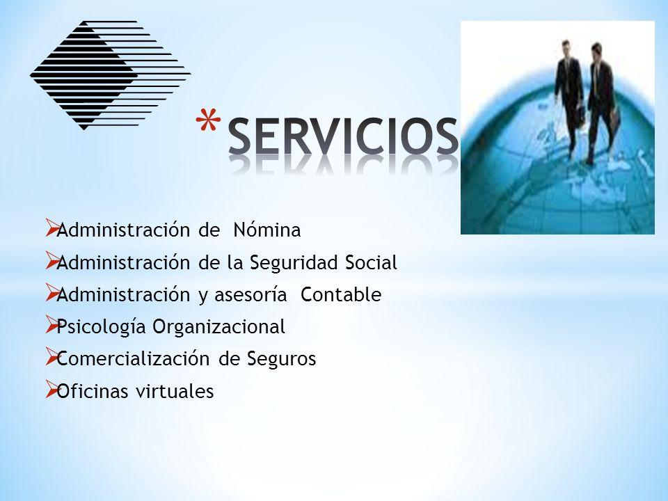 SERVICIOS Administración de Nómina
