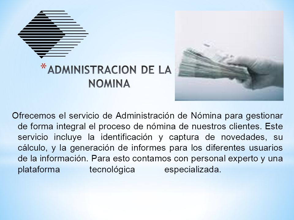 ADMINISTRACION DE LA NOMINA