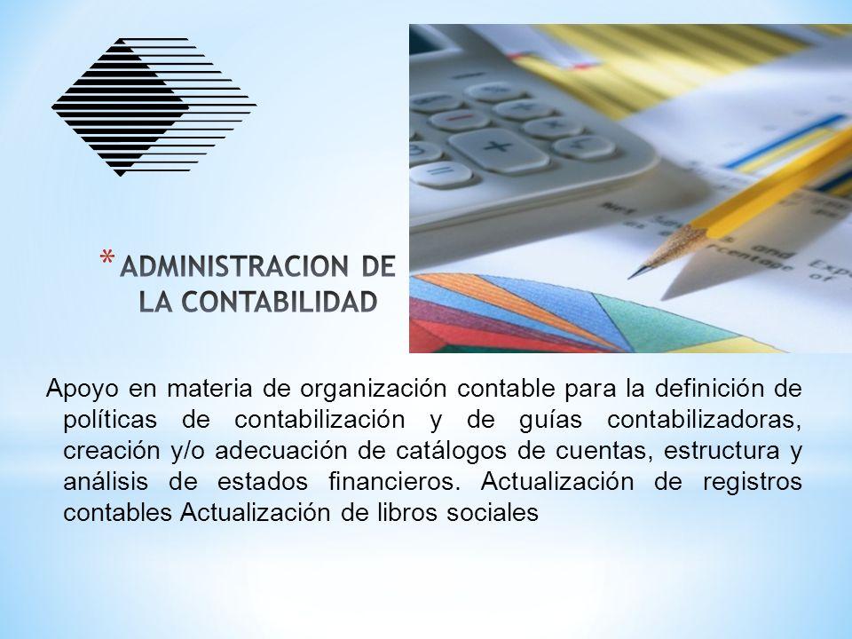 ADMINISTRACION DE LA CONTABILIDAD