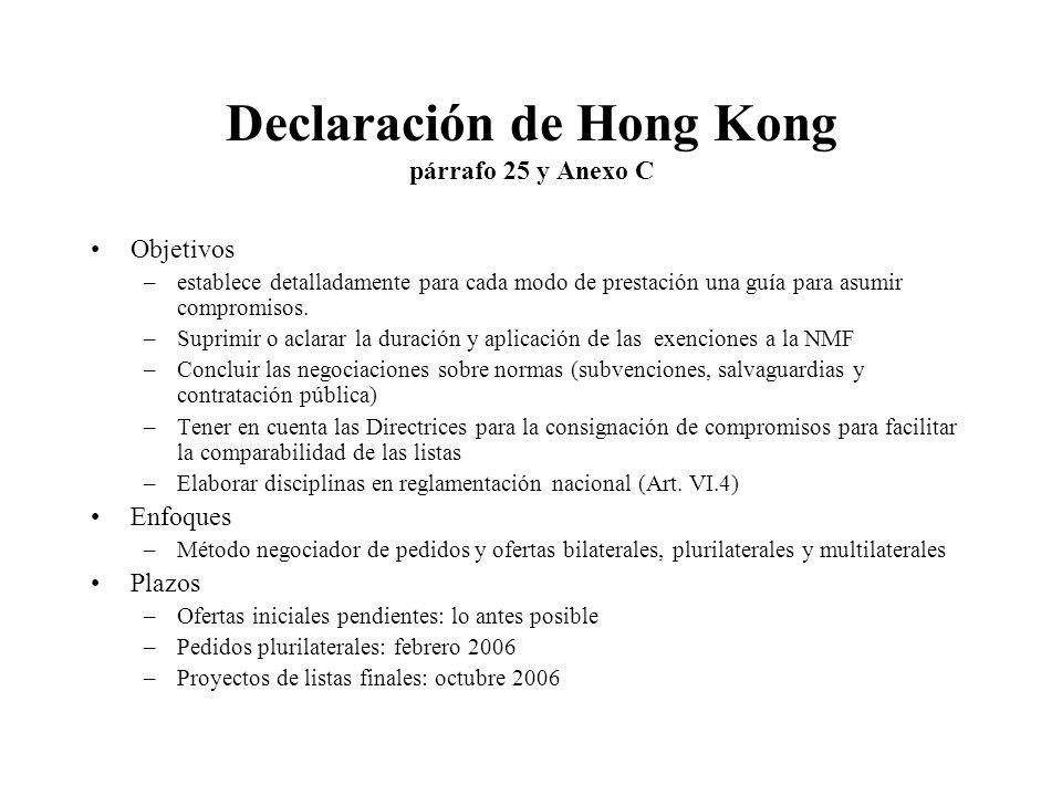 Declaración de Hong Kong párrafo 25 y Anexo C
