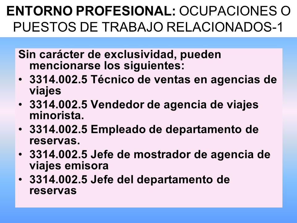 ENTORNO PROFESIONAL: OCUPACIONES O PUESTOS DE TRABAJO RELACIONADOS-1