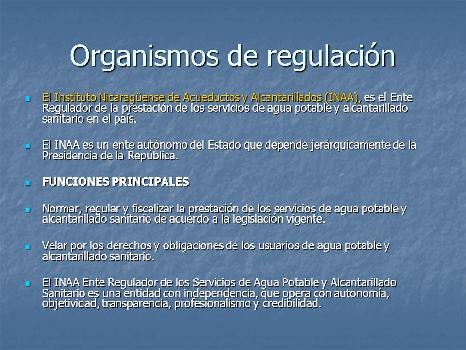 Organismos de regulación