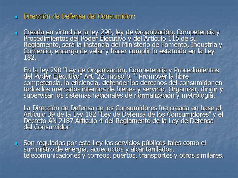 Dirección de Defensa del Consumidor: