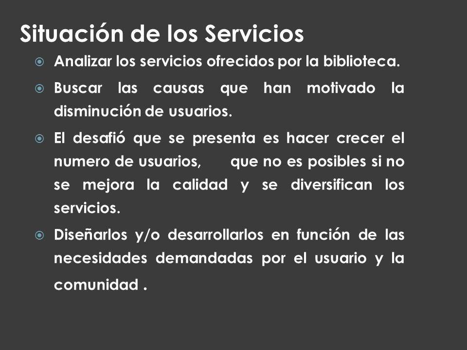 Situación de los Servicios