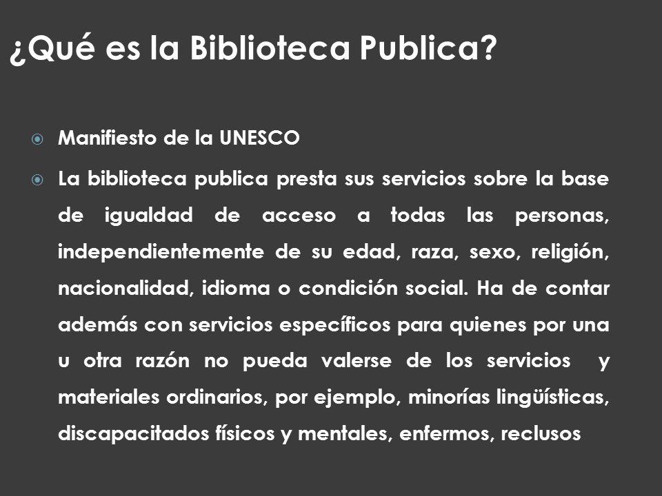¿Qué es la Biblioteca Publica