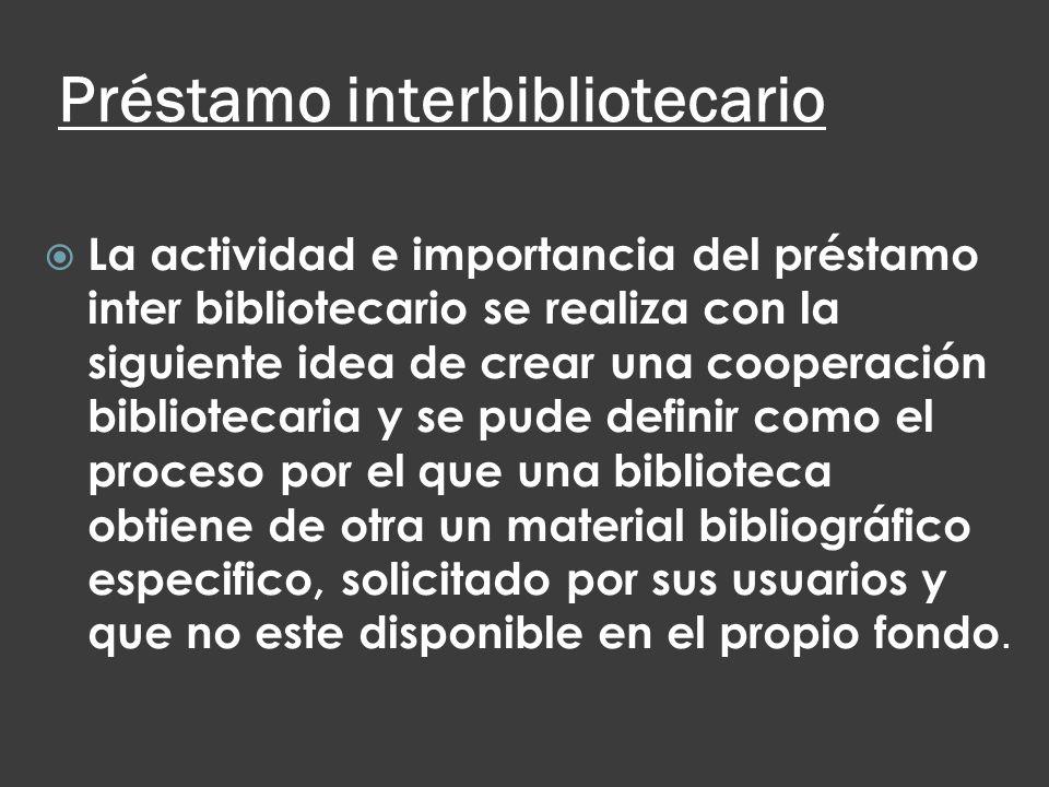 Préstamo interbibliotecario