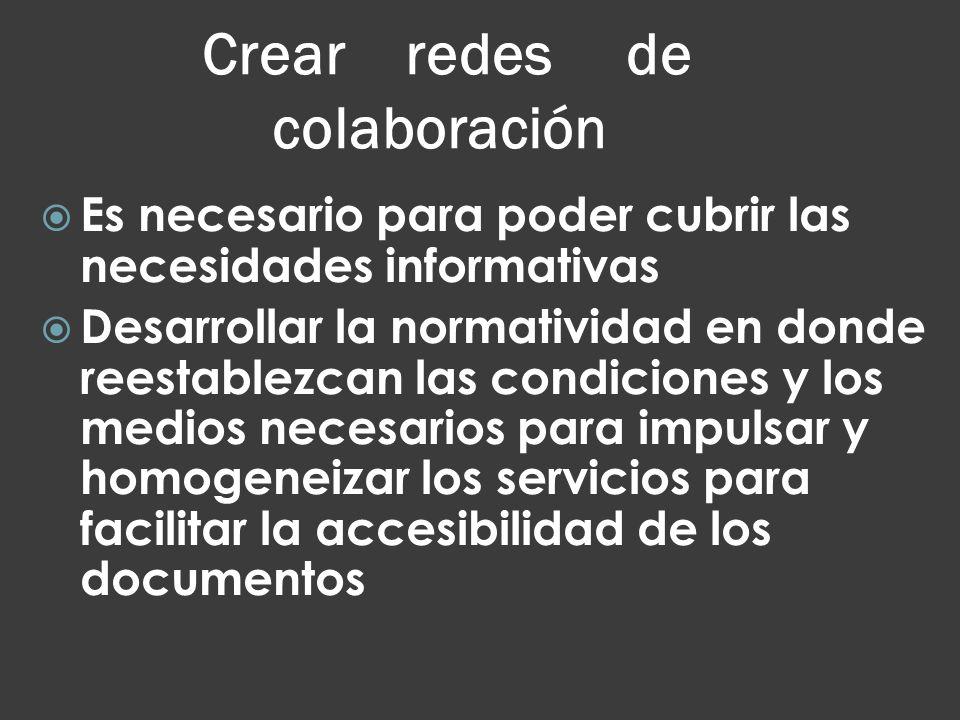 Crear redes de colaboración