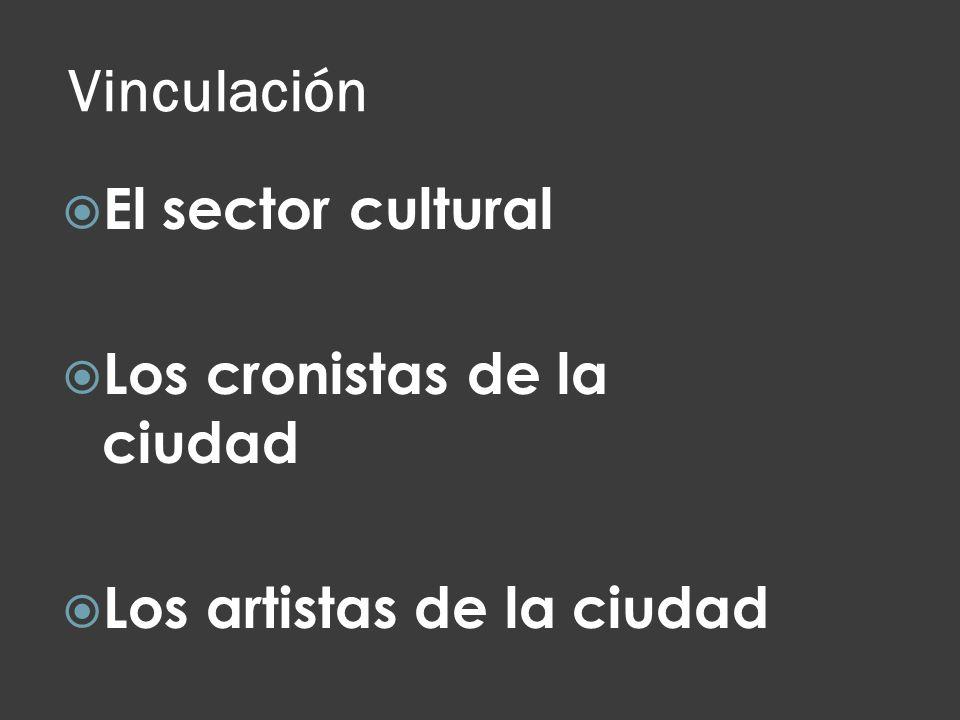 Vinculación El sector cultural Los cronistas de la ciudad
