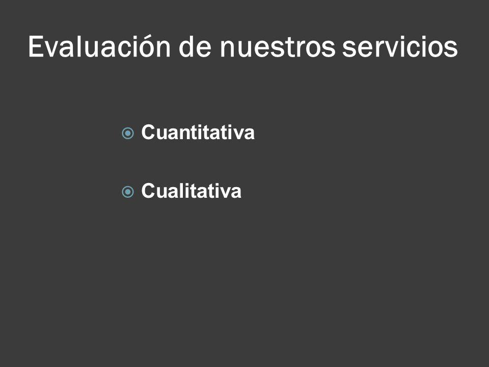 Evaluación de nuestros servicios