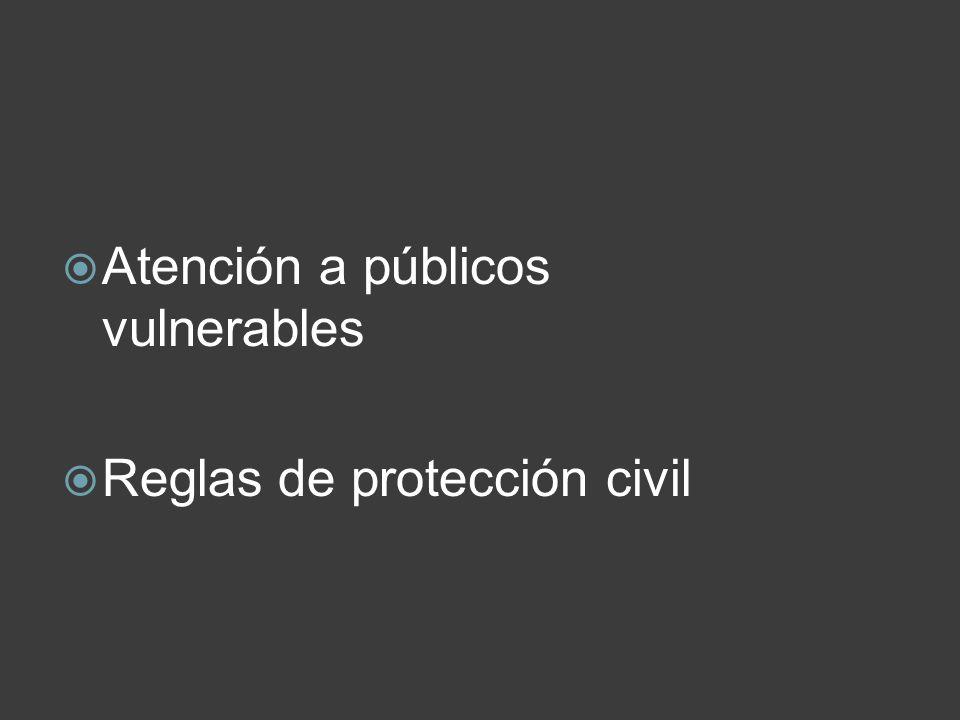 Atención a públicos vulnerables