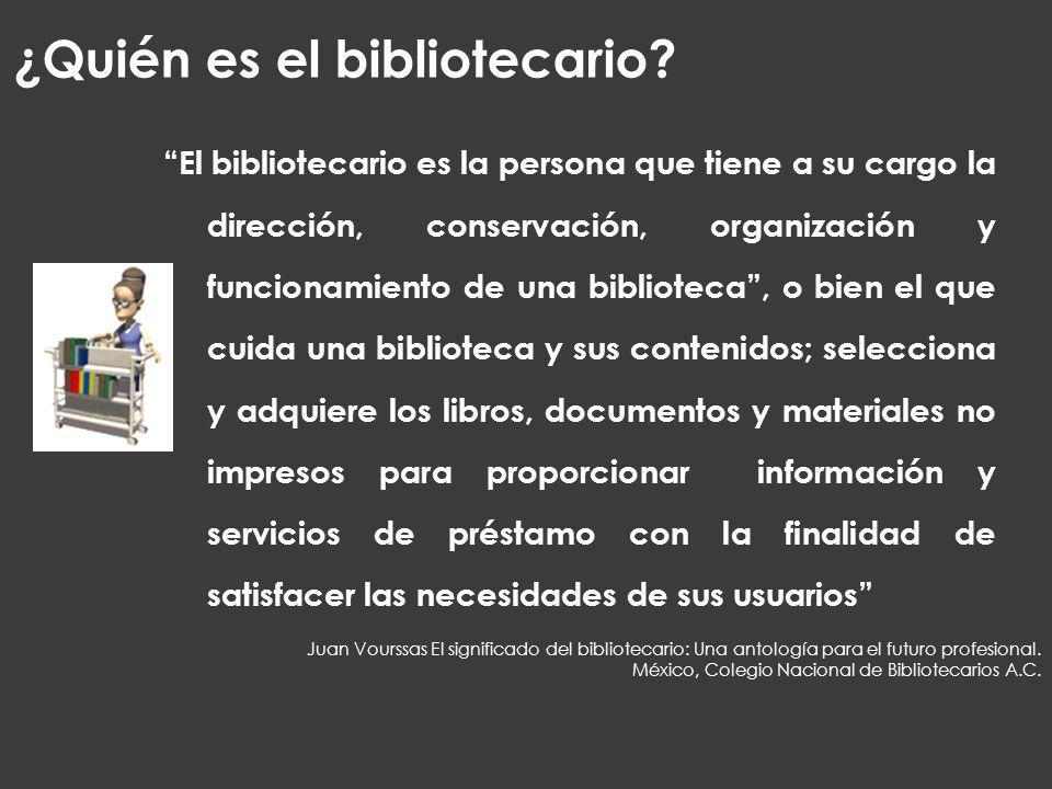 ¿Quién es el bibliotecario