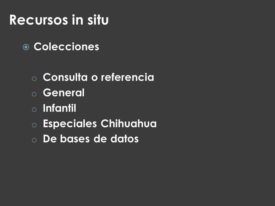 Recursos in situ Colecciones Consulta o referencia General Infantil