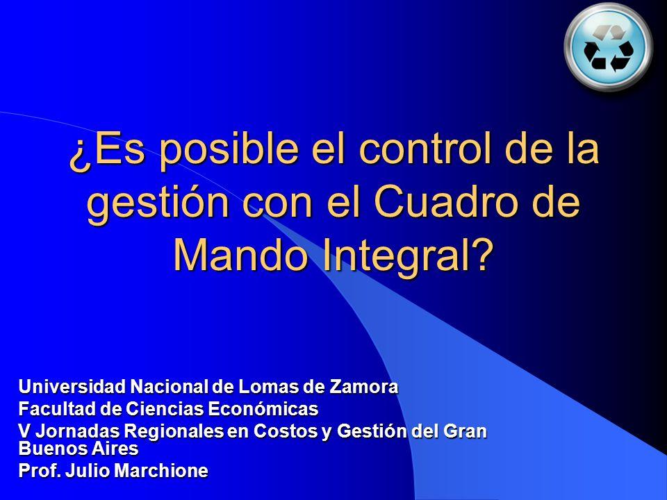 ¿Es posible el control de la gestión con el Cuadro de Mando Integral