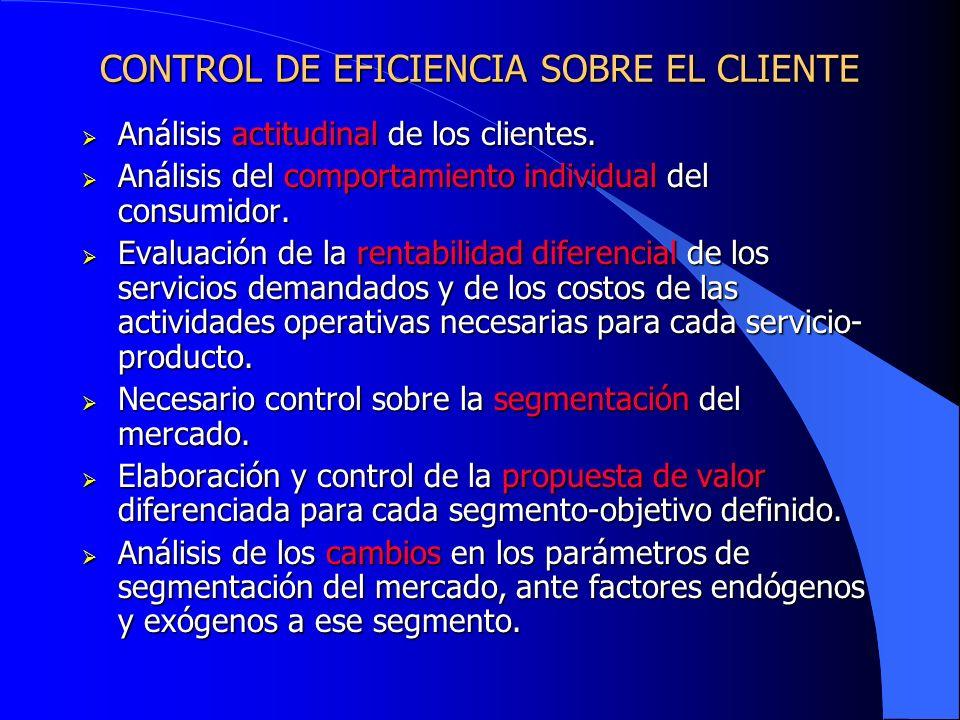 CONTROL DE EFICIENCIA SOBRE EL CLIENTE