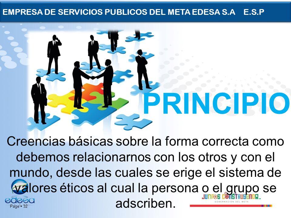EMPRESA DE SERVICIOS PUBLICOS DEL META EDESA S.A E.S.P