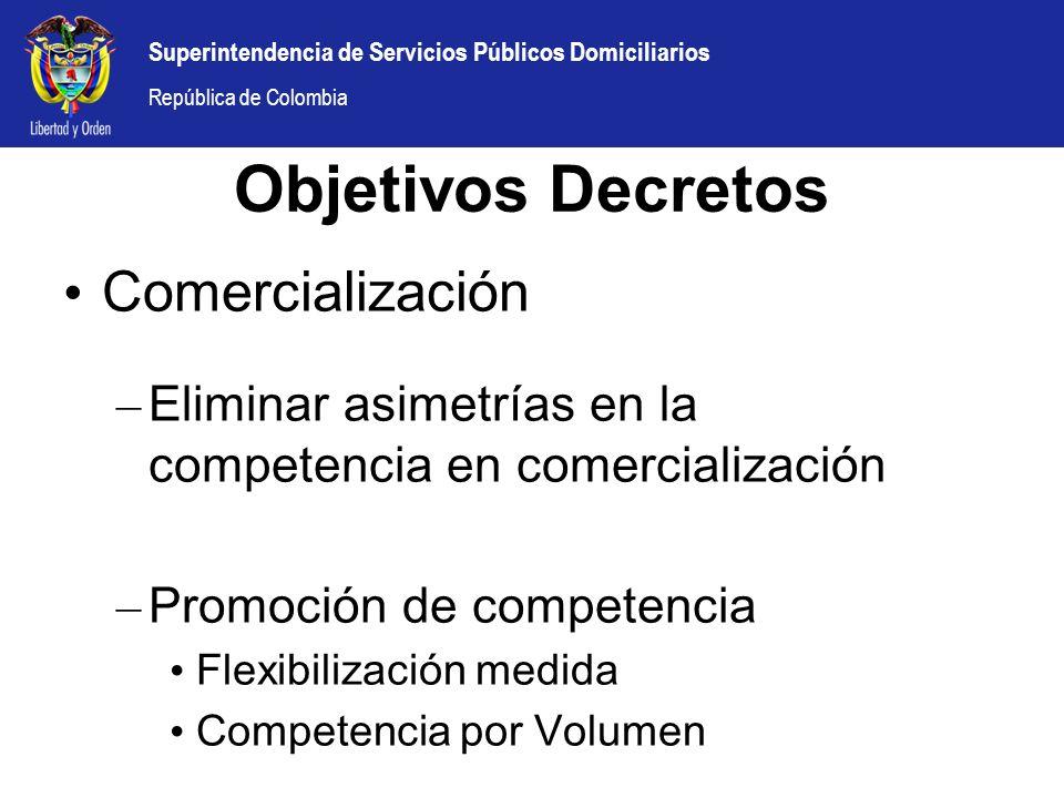 Objetivos Decretos Comercialización