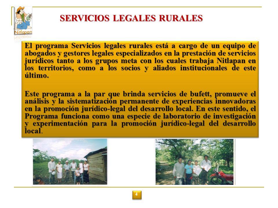 SERVICIOS LEGALES RURALES
