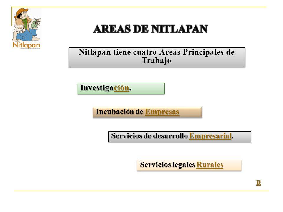 Nitlapan tiene cuatro Áreas Principales de Trabajo