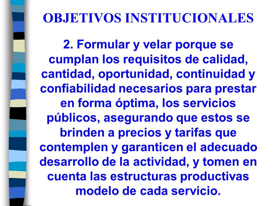 OBJETIVOS INSTITUCIONALES 2