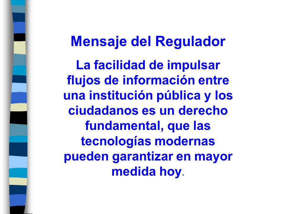 Mensaje del Regulador