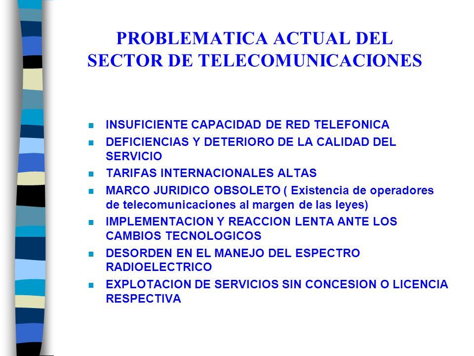 PROBLEMATICA ACTUAL DEL SECTOR DE TELECOMUNICACIONES