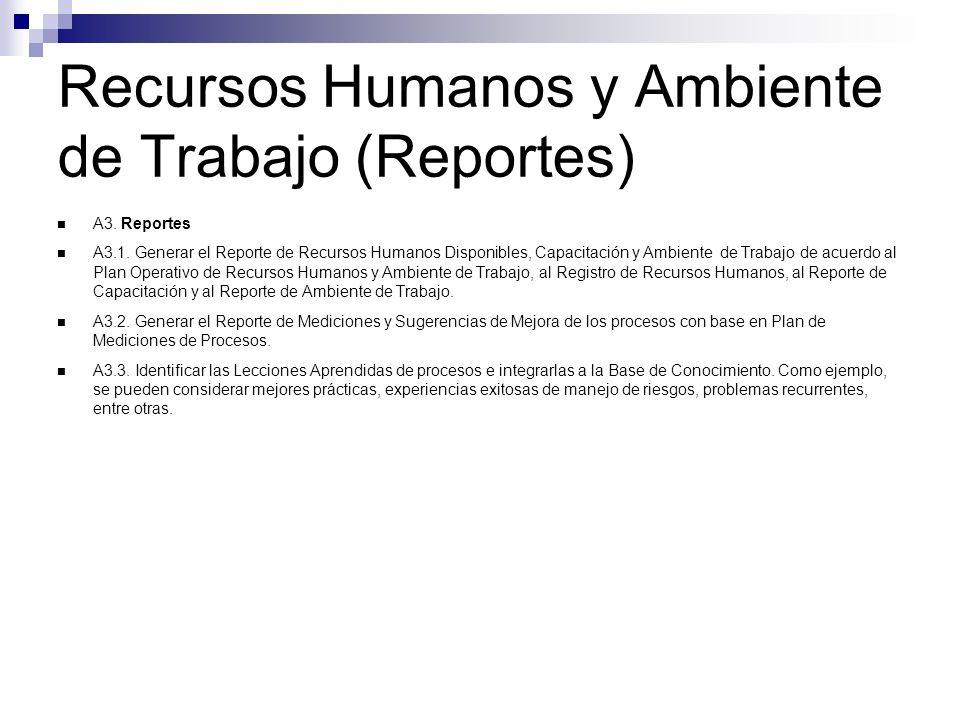 Recursos Humanos y Ambiente de Trabajo (Reportes)