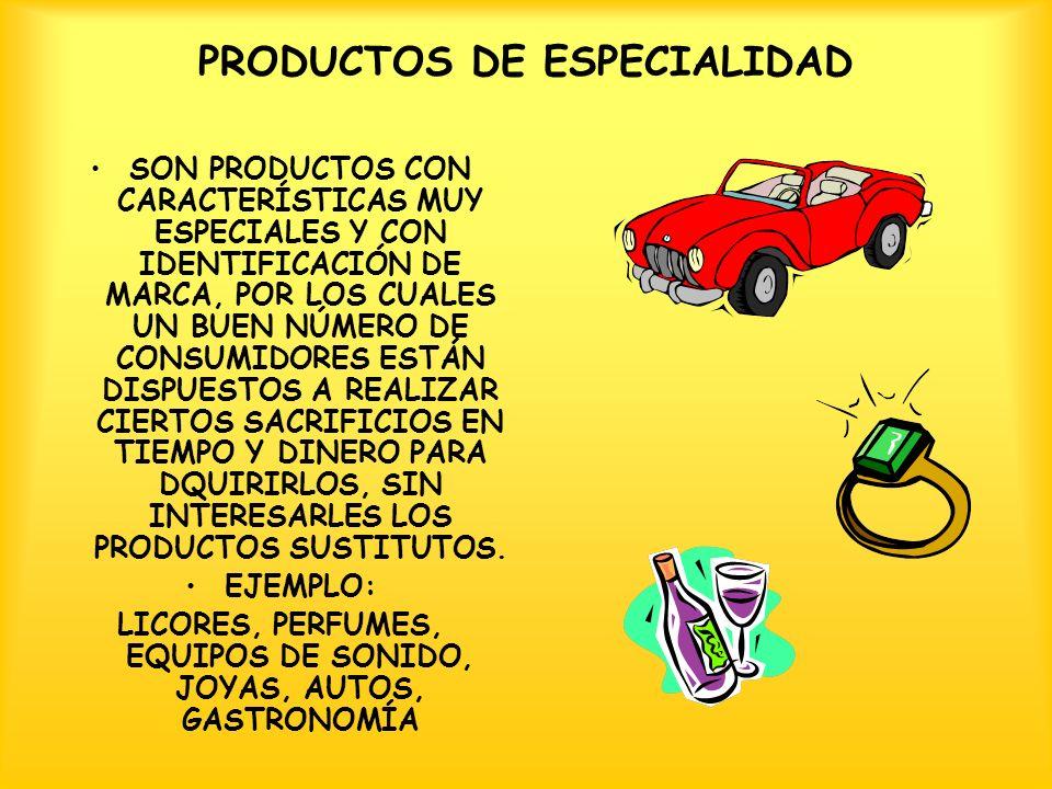 PRODUCTOS DE ESPECIALIDAD