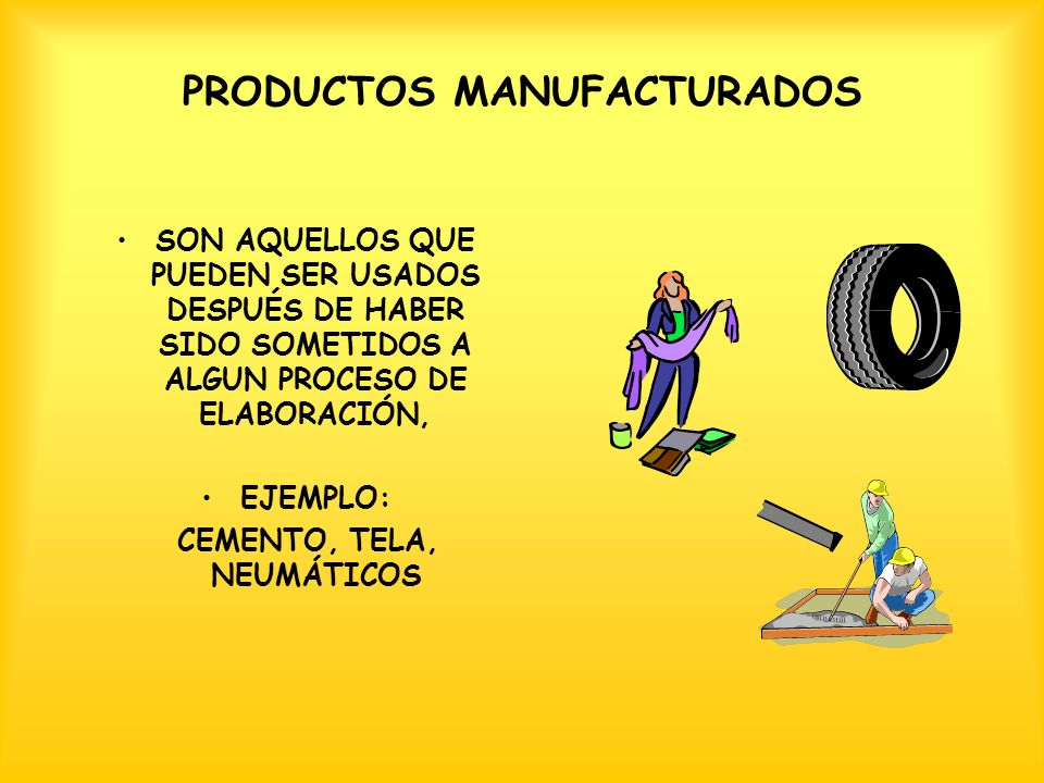 PRODUCTOS MANUFACTURADOS