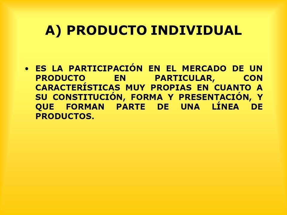 A) PRODUCTO INDIVIDUAL