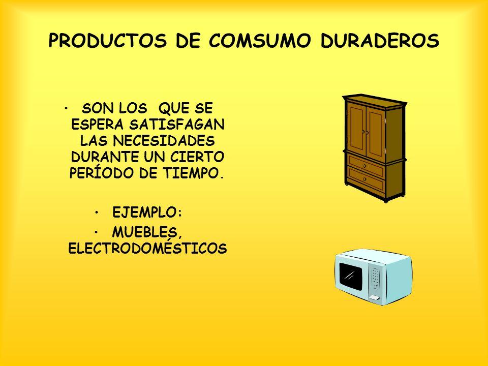 PRODUCTOS DE COMSUMO DURADEROS